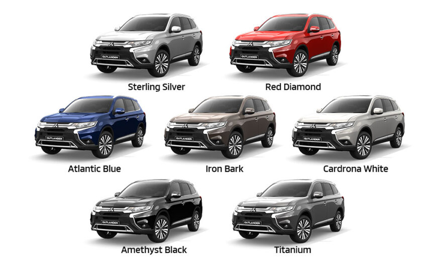 Mitsubishi Outlander MY20 Colour Selection