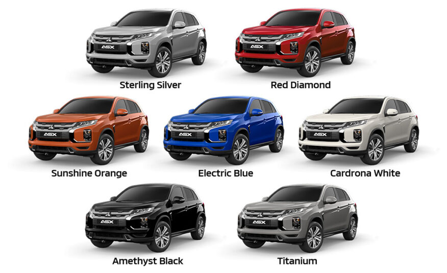Mitsubishi ASX XLS Colours