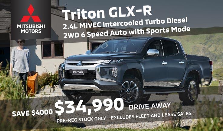 SAVE $4000 – 2020 Mitsubishi Triton GLX-R Double Cab 2WD Auto Pre-Reg Special