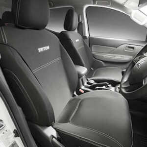 JCMZ350466 Triton Neoprene Seat Covers - Front Set - For Double Cab and Club Cab