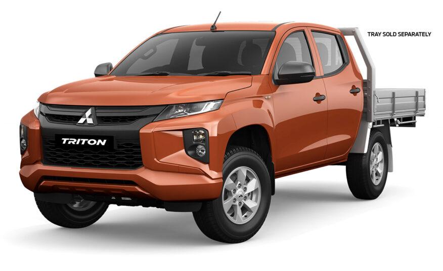 2021 Mitsubishi Triton GLX Double Cab Chassis 4WD 2.4L Diesel Turbo Auto